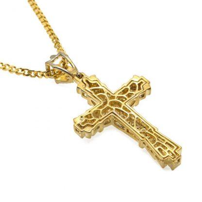 Gold Cross Necklace Pendant Diamond-encrusted Retro Cross Pendant Crucifix Cross Jesus Piece Necklace&Pendants Men/Woman Jewelry 4