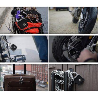 지문인식자물쇠ZWN Z1 USB Rechargeable Smart Keyless Fingerprint Lock IP65 Waterproof Anti-Theft Security Padlock Door Luggage Case Lock 5