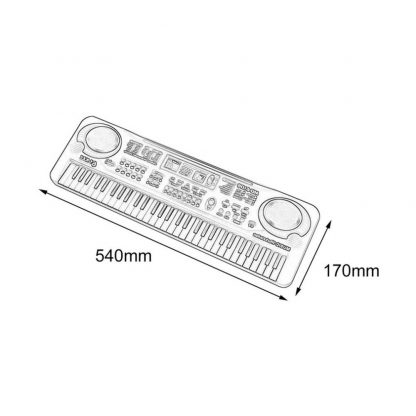 HOT Sale 61 Key Digital Electronic Piano Keyboard With Microphone Musical Instrument Gift For Children EU Plug  5