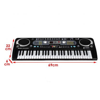 54 Keys Digital Electronic Electric Piano With Keyboard & Microphone Electric Led Adult Size EU Plug US Plug Toy For Kids Gifts 4
