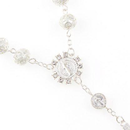 Catholic Religious Bead Cross Bracelets Rosary Centerpiece Sacred Heart of Mary Guadalupe Divine Mercy Jesus Saint Icons Jewelry 1