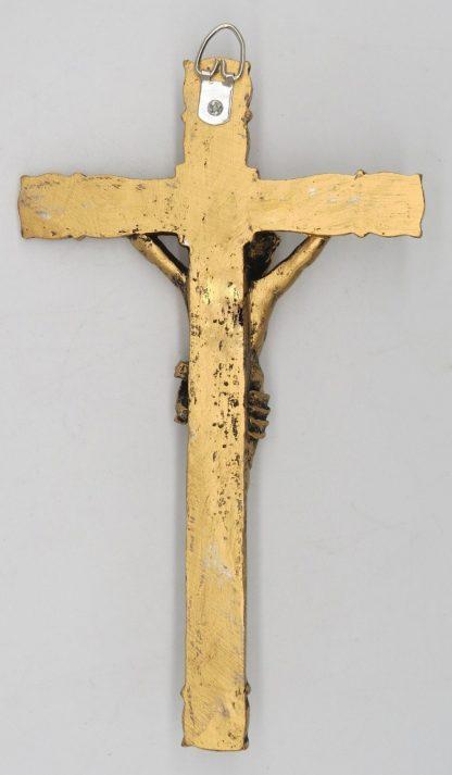 Catholic 8.5 Inch Resin Jesus Christ on INRI Cross Wall Crucifix Antique Finish Gold Silve Home Chapel Decoration Free shipment 2
