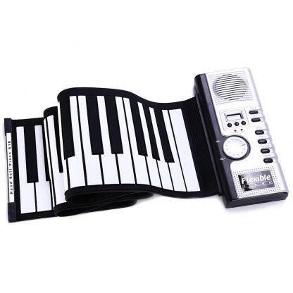 Portable Flexible 61 Keys Silicone MIDI Digital Roll-Up Keyboard Piano Foldable Diatonic Electronic Roll Up Piano 3