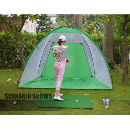 Foldable Outdoor Indoor Golf Net Cage Golf Hitting Net Pop Up Driving Chipping Practice Net Training Aid 5