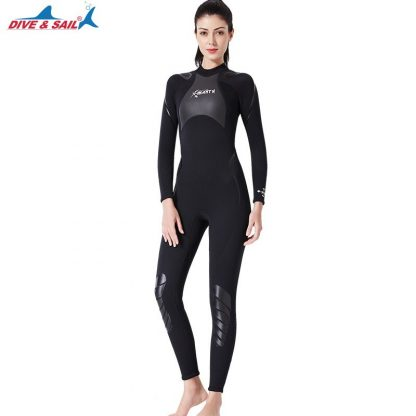 New 3mm Neoprene+Shark Skin Patchwork Wet Suit for Men Women Diving Scuba Snorkeling Surfing Keep Warm Anti-scratch UPF50+ 5