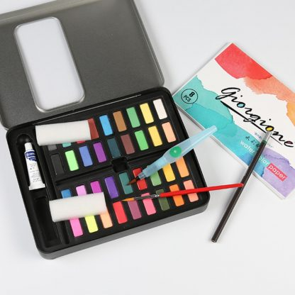 18/24/36 Solid Watercolor Art Paint Pigment Set Portable Painting Drawing Kit 4