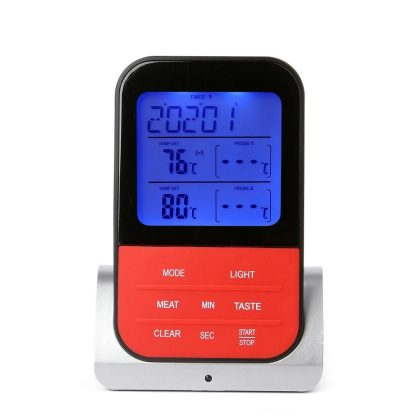BBQ 온도계 캠핌온도계 AsyPets Wireless Waterproof BBQ Thermometer Digital Cooking Meat Food Oven Grilling Thermometer With Timer Function-30 2