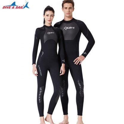 New 3mm Neoprene+Shark Skin Patchwork Wet Suit for Men Women Diving Scuba Snorkeling Surfing Keep Warm Anti-scratch UPF50+ 1