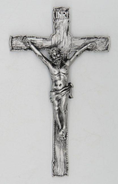 Catholic 8.5 Inch Resin Jesus Christ on INRI Cross Wall Crucifix Antique Finish Gold Silve Home Chapel Decoration Free shipment 1