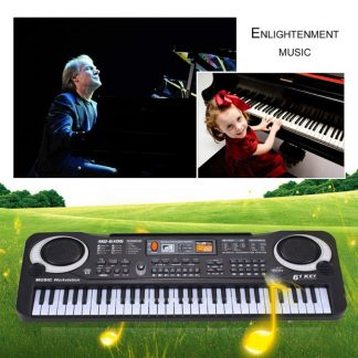 HOT Sale 61 Key Digital Electronic Piano Keyboard With Microphone Musical Instrument Gift For Children EU Plug