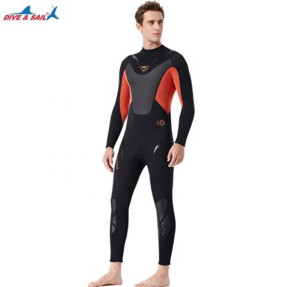 Full-body Men 3mm Neoprene Wetsuit Surfing Swimming Diving Suit Triathlon Wet Suit for Cold Water Scuba Snorkeling Spearfishing 5