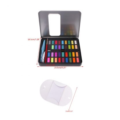 36 Colors Solid Watercolor Artist Paint Set Painting Box with Pens Paper And Bag Artist Art Supplies 5