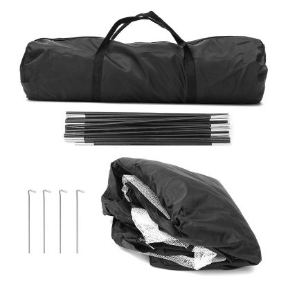 Golf Hitting Cage Practice Net Trainer Foldable 210D Encryption Oxford Cloth+Polyester Durable Sturdy Construction Black 5