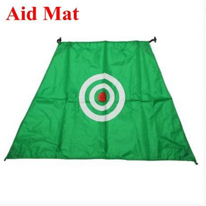 2x1.4m Foldable Golf Hitting Cage Practice Net Trainer+raining Aid Mat+Driver Iron Green Portable Durable Polyester+Oxford Cloth 4