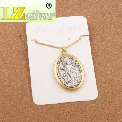 Catholic Patron Saint Pendant Michael St. Michael the Archangel 2inch Pendant Necklace 24 Chain N1779 10PCS  5