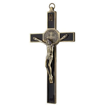 Church Relics Crucifix Jesus Christ On The Stand Cross Wall Crucifix Antique Home Chapel Decoration Wall Crosses Bronze Black 2