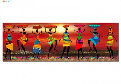 African Women Dancing Print Colored Poster Canvas Painting Tribal Wall Art Wall Pictures for Living Room Decoration 1