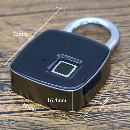 지문인식자물쇠ZWN Z1 USB Rechargeable Smart Keyless Fingerprint Lock IP65 Waterproof Anti-Theft Security Padlock Door Luggage Case Lock 4