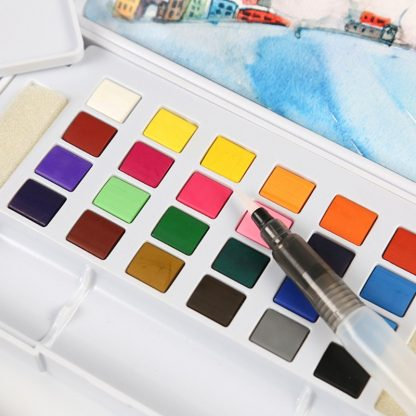 18/24/36 Solid Watercolor Art Paint Pigment Set Portable Painting Drawing Kit 5