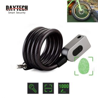 DAYTECH Fingerprint Door Lock Anti-Theft Bike Lock for Bicycle/Motorcycle IP65 Waterproof