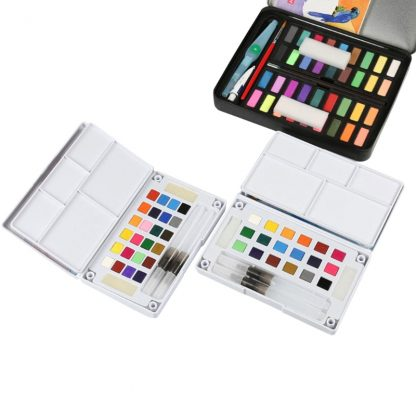 18/24/36 Solid Watercolor Art Paint Pigment Set Portable Painting Drawing Kit 1