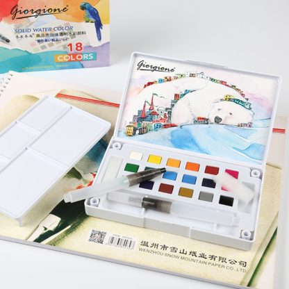 18/24/36 Solid Watercolor Art Paint Pigment Set Portable Painting Drawing Kit 3