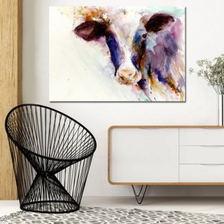 Abstract Art Watercolor Cow Animal Painting Wall Art Pictures For Living Room Canvas Painting Print Poster Decoration Pictures