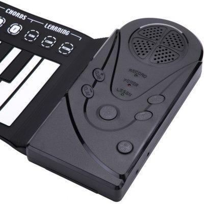 49 Key Portable Flexible Digital Keyboard Piano 10 Rhythms Electronic Roll Up Piano Children Toys Built-in Speaker 5