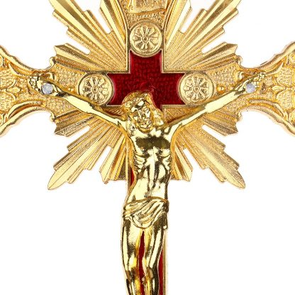 Church Relics Figurines Crucifix Jesus Christ On The Stand Cross Wall Crucifix Antique Home Chapel Decoration Wall Crosses Gold 3