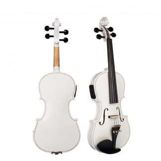 Acoustic Electric Violin Fiddle 4/4 Full Size Violin Solid Wood Body Ebony Accessories High Quality Electric Violin New