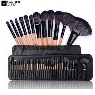 메이크업 도구 브러시세트32pcs Professional Makeup Brushes Set Make Up Powder Brush Pinceaux maquillage Beauty Cosmetic Tools Kit Eyeshadow Lip Brush Bag