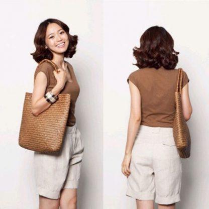Fashion Womens Summer Straw Large Tote Bag Crossbody Beach Shoulder Bag Handbag 2