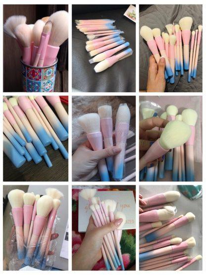 메이크업 뷰티 브러시세트 Gradient Color Pro 14pcs Makeup Brushes Set Cosmetic Powder Foundation Eyeshadow Eyeliner Brush Kits Make Up Brush Tool 5