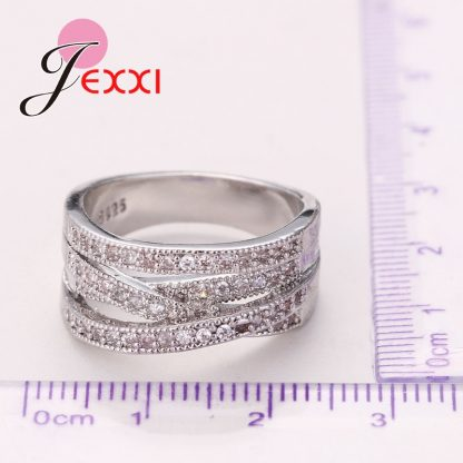 Jemmin New Fashion Rings For Women Party Elegant Luxury Bridal Jewelry 925 Sterling Silver Wedding Engagement Ring High Quality 3