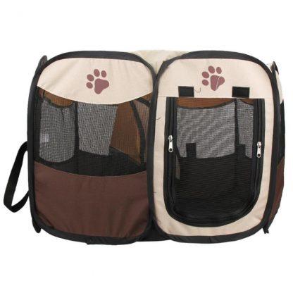 휴대용 강아지 하우스 접이식 텐트형 Portable Folding Pet Tent Dog House Cage Dog Cat Tent Playpen Puppy Kennel Easy Operation Octagonal Fence Outdoor Supplies 4