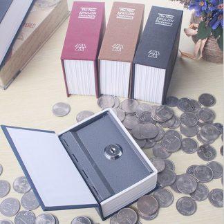 저금통Dictionary Mini Safe Box Book Money Hidden Secret Security Safe Lock Cash Money Coin Storage Jewellery key Locker For Kid Gift