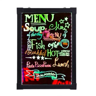 LED 네온보드16X24 Inch Easy To Write On Flashing Luminated Fluorescent Sign Board Set Cafe Coffee Menu Styling Neon LED Decoration Board