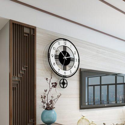 모던 클래식 거실 벽시계 Swingable Silent Large Wall Clock Modern Design Battery Operated Quartz Hanging Clocks Home Decor Kitchen Watch Free Shipping 2