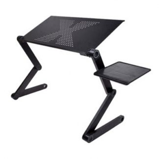 접이식 노트북 받침대Portable foldable adjustable folding table for Laptop Desk Computer mesa para notebook Stand Tray For Sofa Bed Black