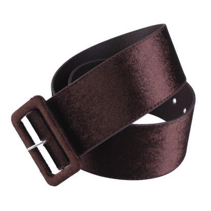 New Design Wide belt female dress belts decorate waistband fashion silver pin buckle Velvet belt party belt black flannel women 4