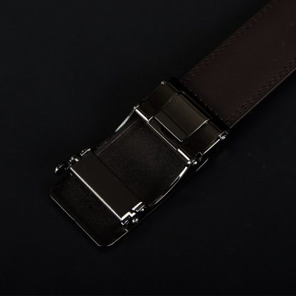 COWATHER New Arrival  cow genuine leather men's belt cowhide strap for male automatic buckle belts for men alloy buckle belts 5