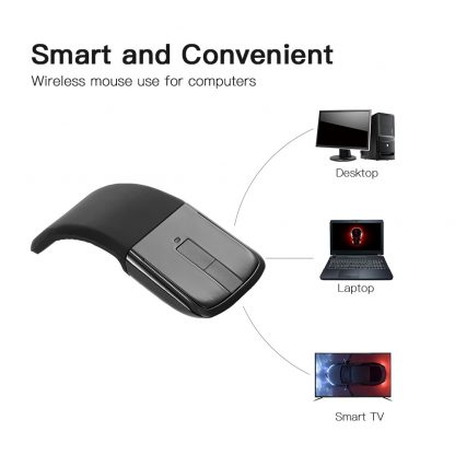 2.4 GHz Flexible Design Fordable Wireless Optical Mouse ARC Touch folding Mice With USB Receiver For Microsoft PC Laptop 3