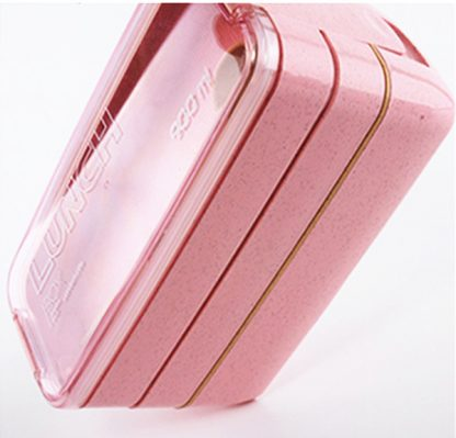 900ml Healthy Material Lunch Box 3 Layer Wheat Straw Bento Boxes Microwave Dinnerware Food Storage Container Lunchbox 4