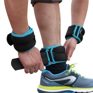 1kg/pair Adjustable Wrist Ankle Weights Iron Sand Bag Weights Straps with Neoprene Padding for for Exercise Fitness Running