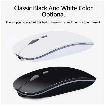 Wireless Mouse Computer Bluetooth Mouse Silent PC Mause Rechargeable Ergonomic Mouse 2.4Ghz USB Optical Mice For Laptop PC 2