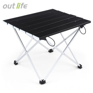 Outlife Portable Outdoor BBQ Camping Picnic Aluminum Alloy Folding Table Portable Lightweight Rain-Proof Mini Rectangle Table