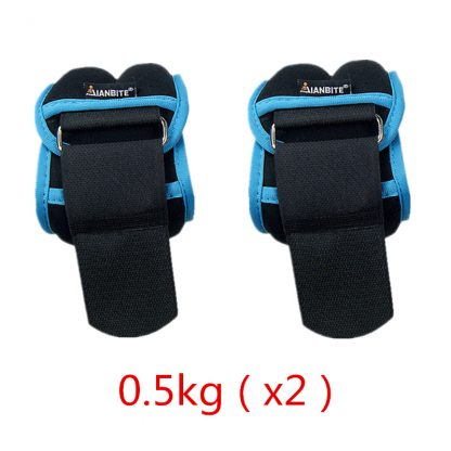 1kg/pair Adjustable Wrist Ankle Weights Iron Sand Bag Weights Straps with Neoprene Padding for for Exercise Fitness Running 3