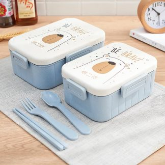 TUUTH Cute Cartoon Lunch Box Microwave Dinnerware Food Storage Container Children Kids School Office Portable Bento Box