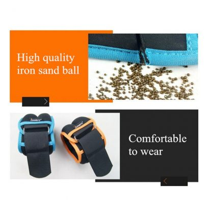 1kg/pair Adjustable Wrist Ankle Weights Iron Sand Bag Weights Straps with Neoprene Padding for for Exercise Fitness Running 4