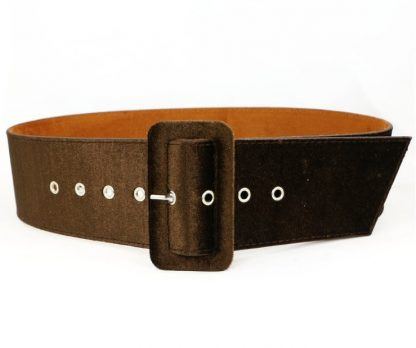 New Design Wide belt female dress belts decorate waistband fashion silver pin buckle Velvet belt party belt black flannel women 2